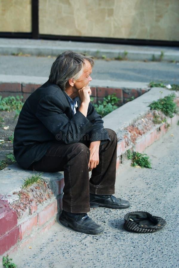 starszyzna bezdomne żebrak obrazy stock