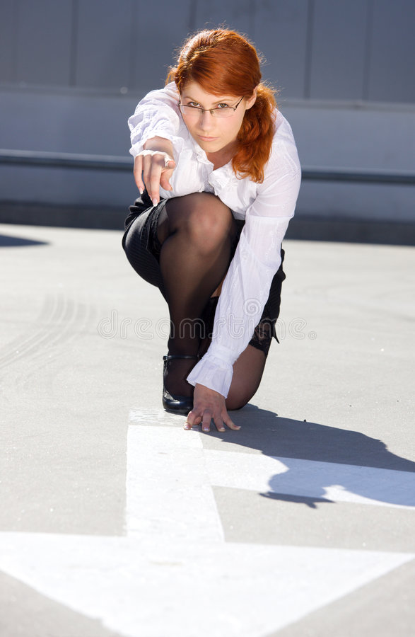 Download Start stock image. Image of female, looking, caucasian - 5924761