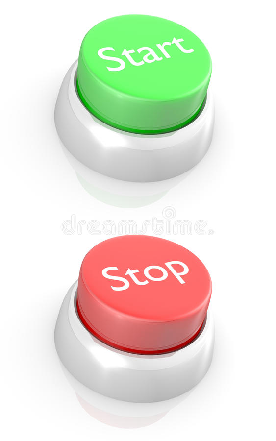 Free START And STOP Buttons Royalty Free Stock Photo - 22916075