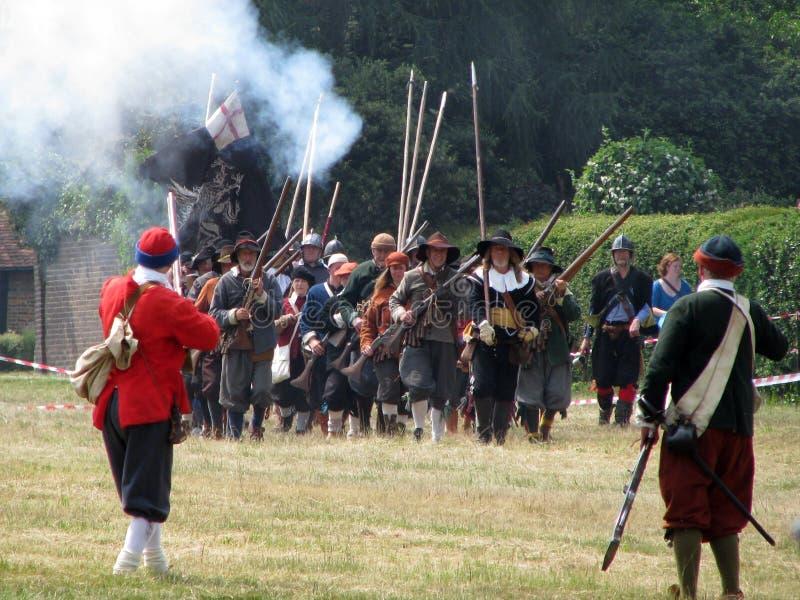re-enactment British civil war stock photography