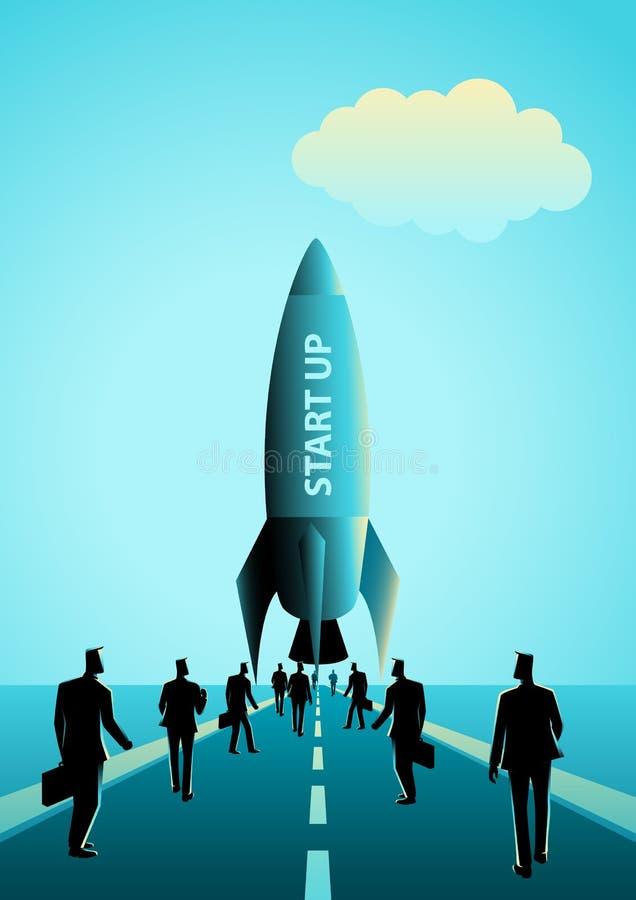 Start bedrijfsconcept vector illustratie