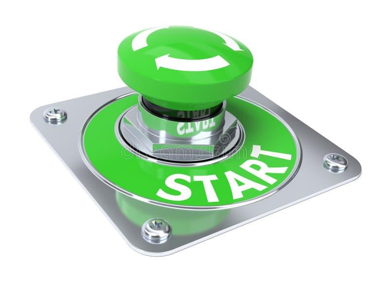 Start button royalty free illustration