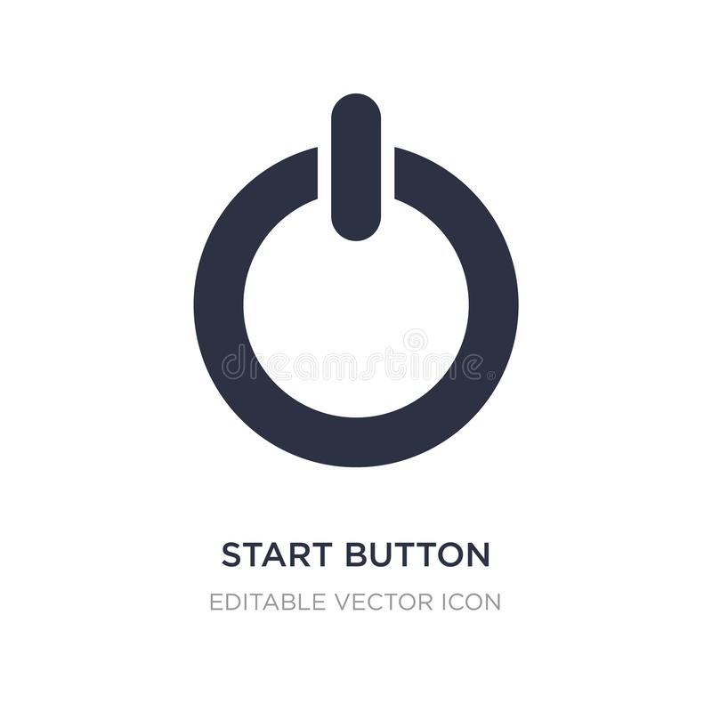 Start button icon on white background. Simple element illustration from Multimedia concept. Start button icon symbol design royalty free illustration