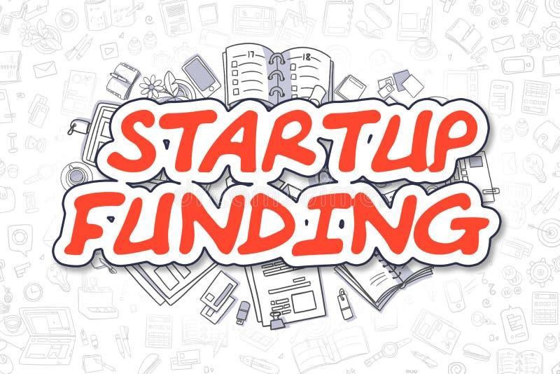Start Financiering - Beeldverhaal Rode Inschrijving Bedrijfs concept royalty-vrije illustratie