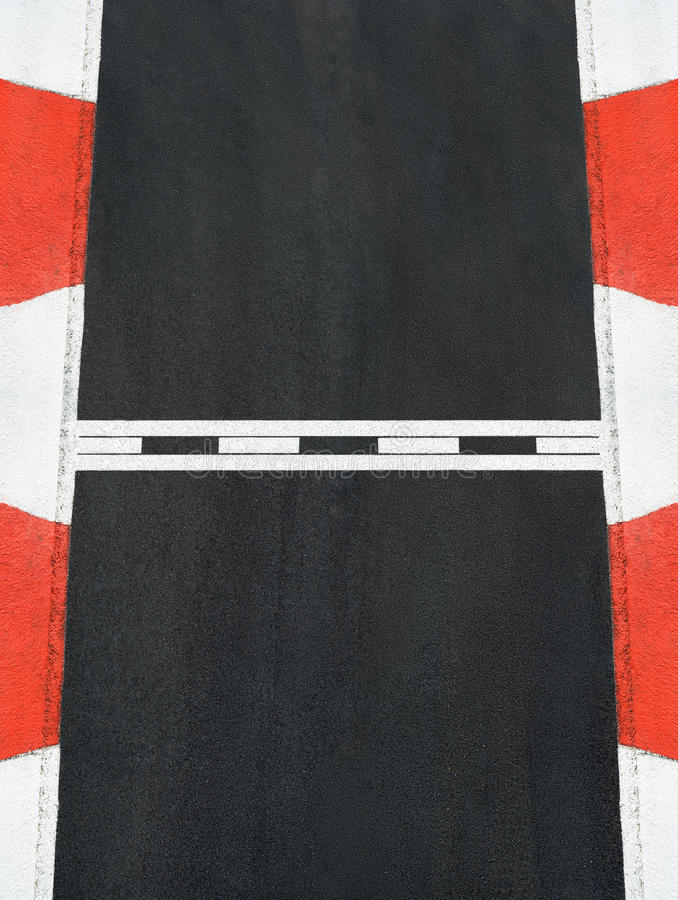 Start and Finish race line asphalt texture Grand Prix circuit. Start and Finish motor race line asphalt texture on Grand Prix street circuit stock photos