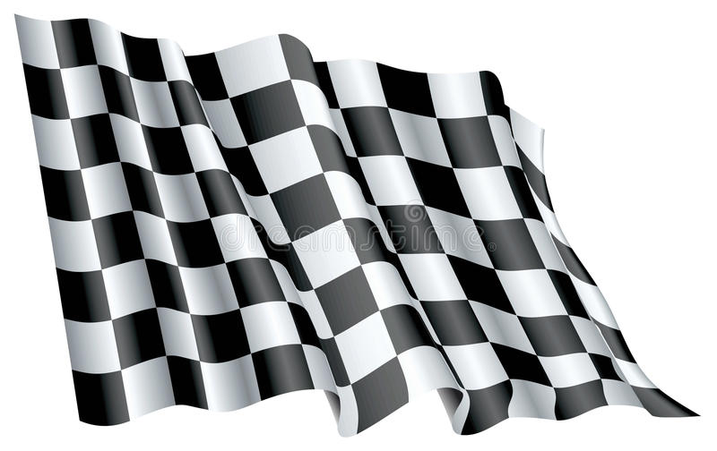 Download Start Flag stock vector. Image of finishing, checkered - 24063675