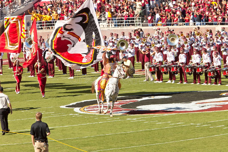 Start of Football Game at FSU stock image