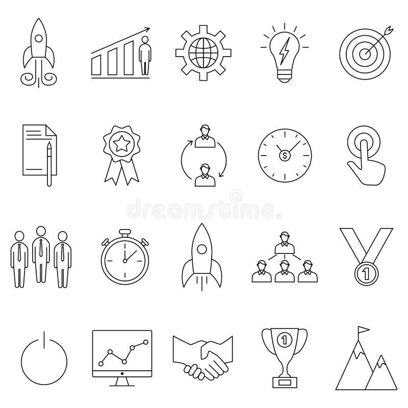 Start geplaatste pictogrammen vector illustratie