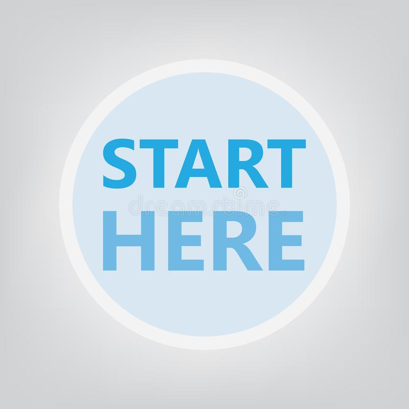 Start here concept. Vector illustration vector illustration