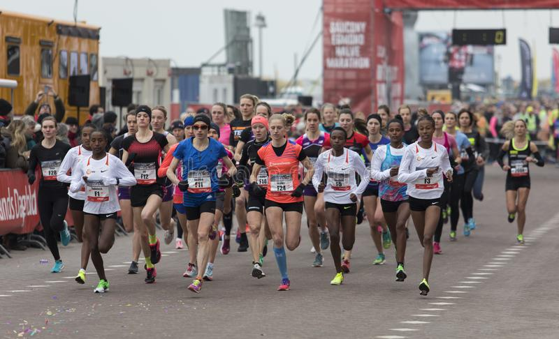 Start of on international street run royalty free stock photos