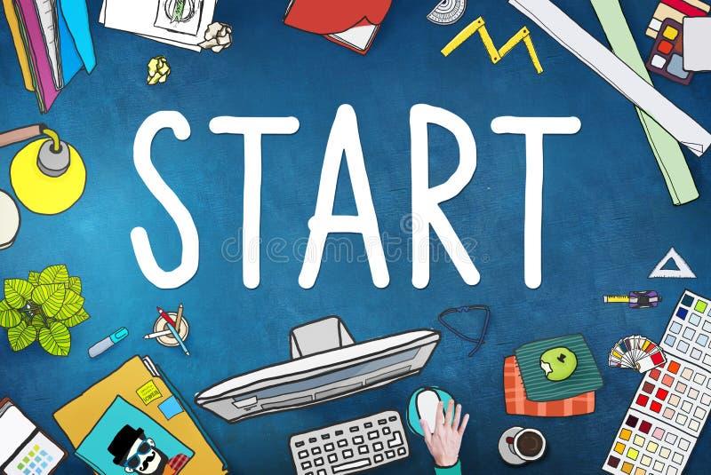 Start Journey Mission Achievement Begin Concept royalty free illustration