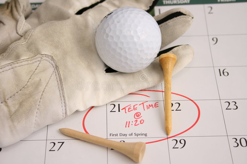 Start of a new season. Image representing the first day of spring and anticipation of playing golf royalty free stock photo