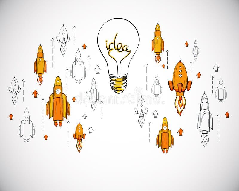 Start- och egenf?retagandebegrepp stock illustrationer