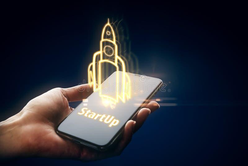 Start- och innovationbegrepp arkivfoto