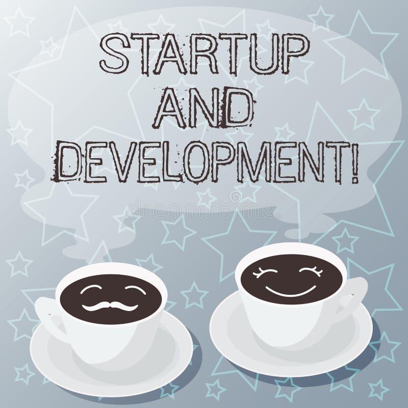 Start och utveckling för handskrifttexthandstil Begreppsbetydelsesökande för en repeatable och scalable affärsmodell royaltyfri illustrationer