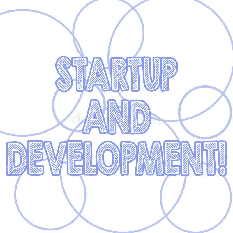 Start och utveckling för handskrifttexthandstil Begreppsbetydelsesökande för en repeatable och scalable affärsmodell Outlines av vektor illustrationer