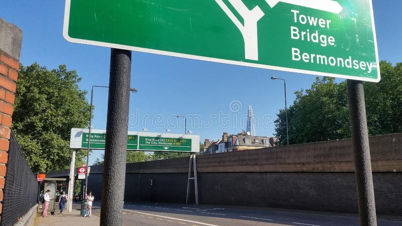 Start of the Old Kent Road stock image