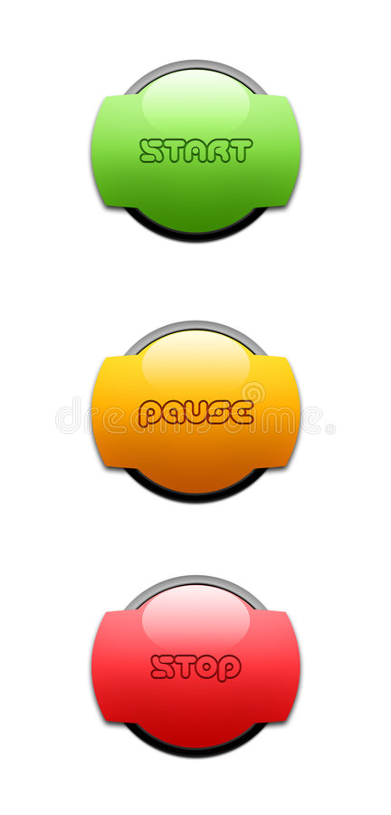 Start, Pause, Stop, Button royalty free stock photo