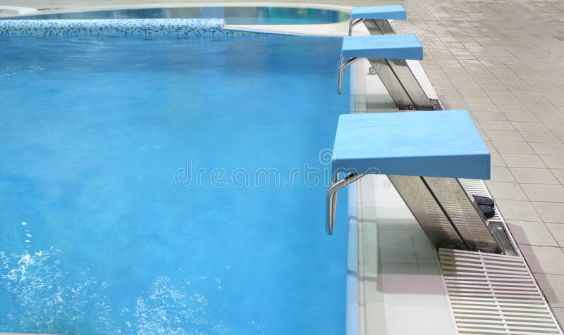 Start place in pool royalty free stock image