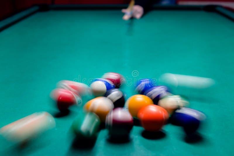 Breaking balls, ready to play royalty free stock photo