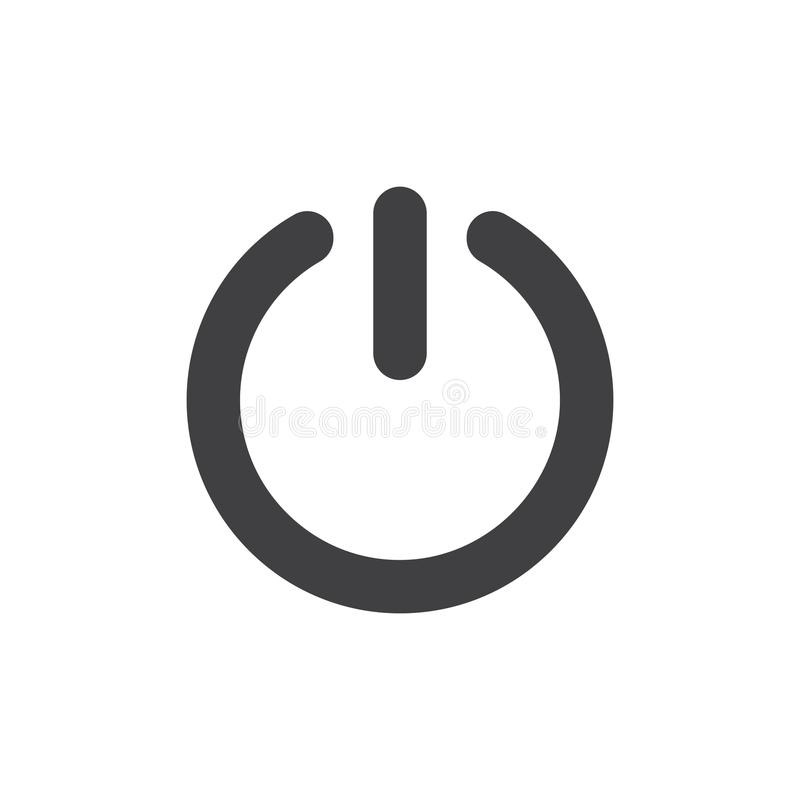 Start Power Button Icon Vector Stock Vector - Illustration of simple ...