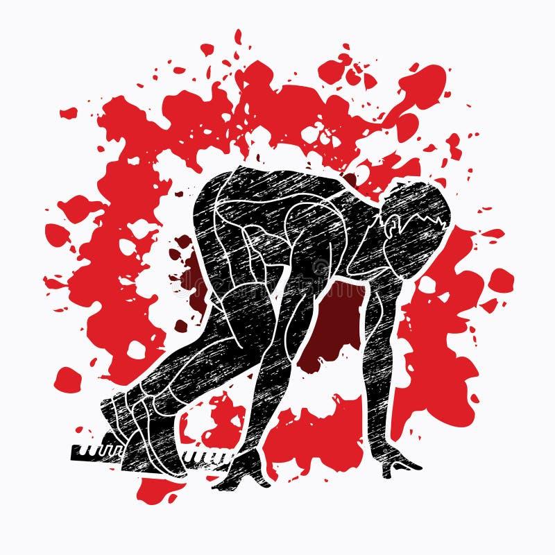Start Running ,Athletic prepare running graphic vector. Start Running ,Athletic prepare running illustration graphic vector royalty free illustration