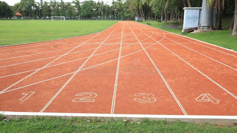 Download Start of running track stock photo. Image of ground, grass - 29009986