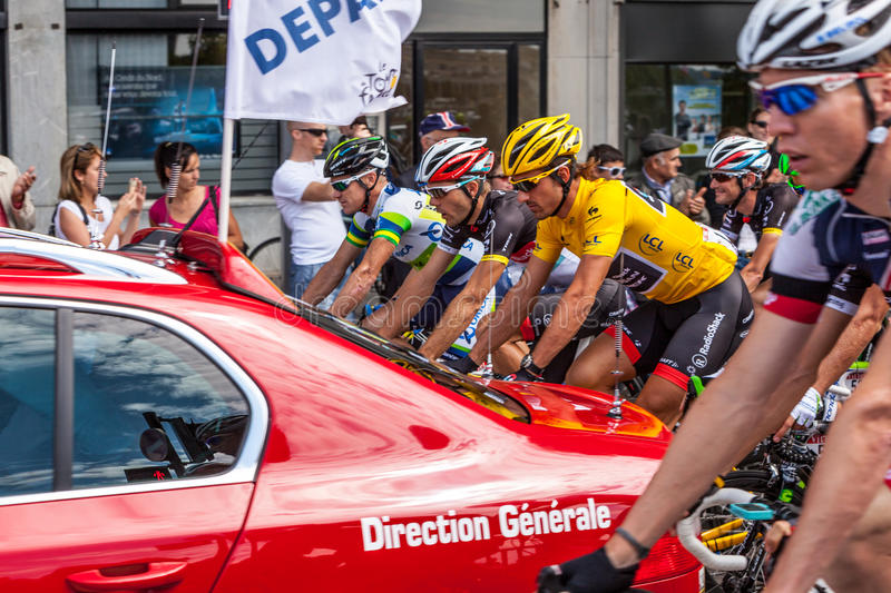 The Start Of Stage 5 In Le Tour Of France 2012 Editorial Photo