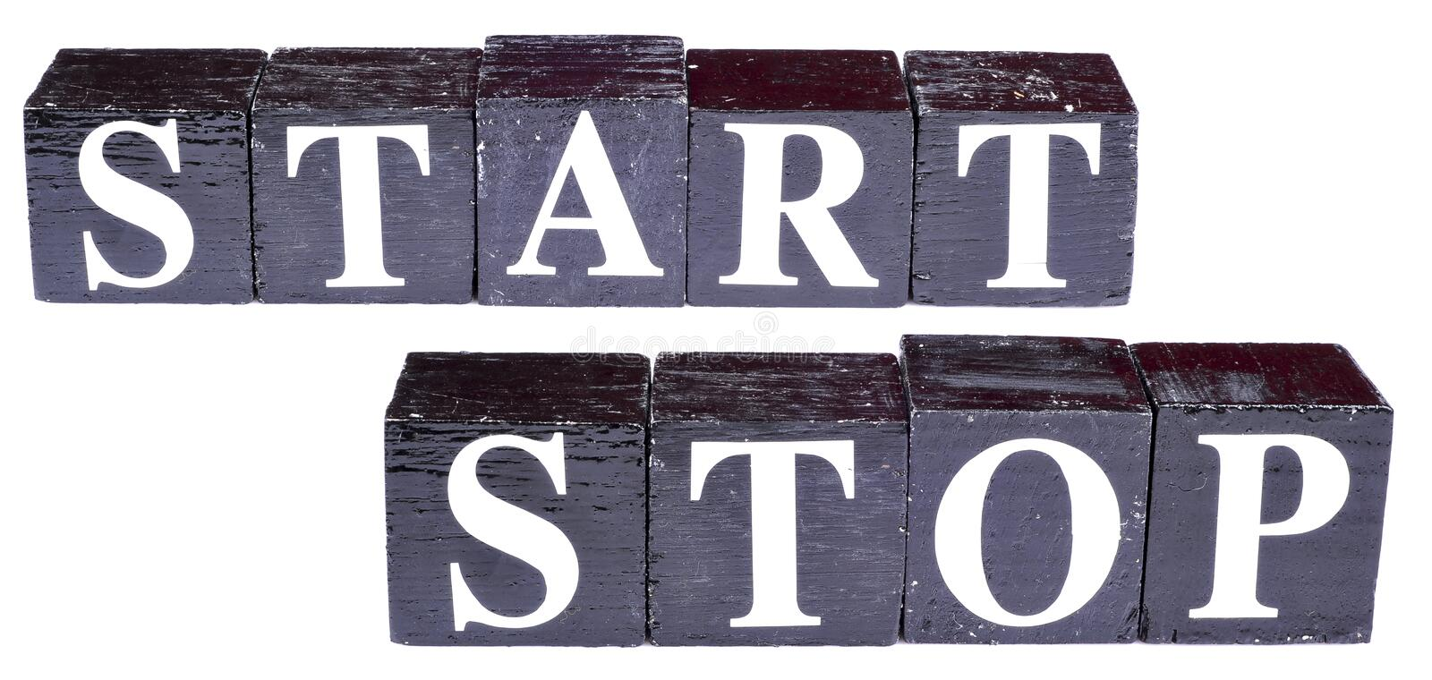 Download Start stop stock photo. Image of paint, spelled, black - 23430970