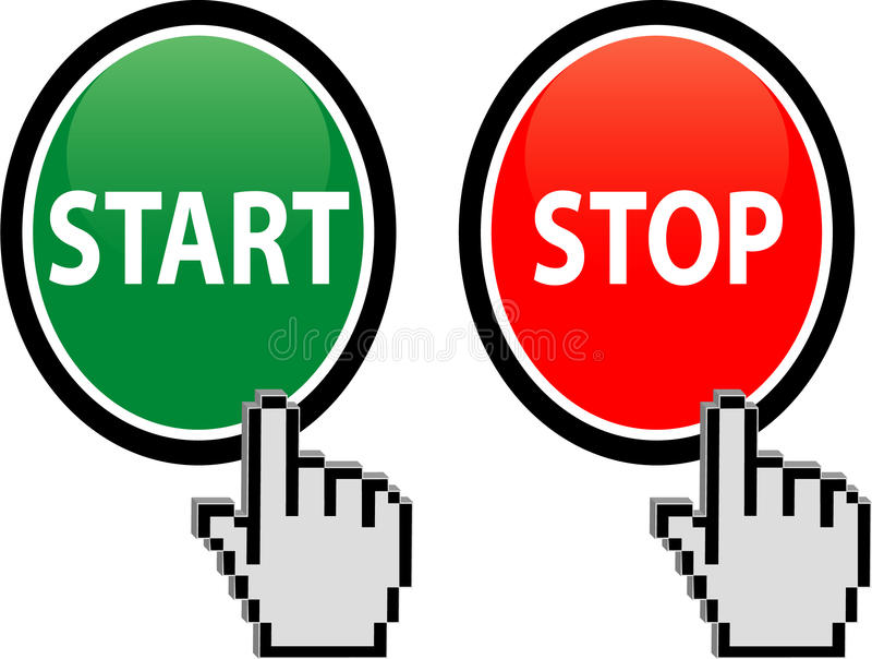 Download Start and Stop button stock vector. Image of choice, alarm - 15977081