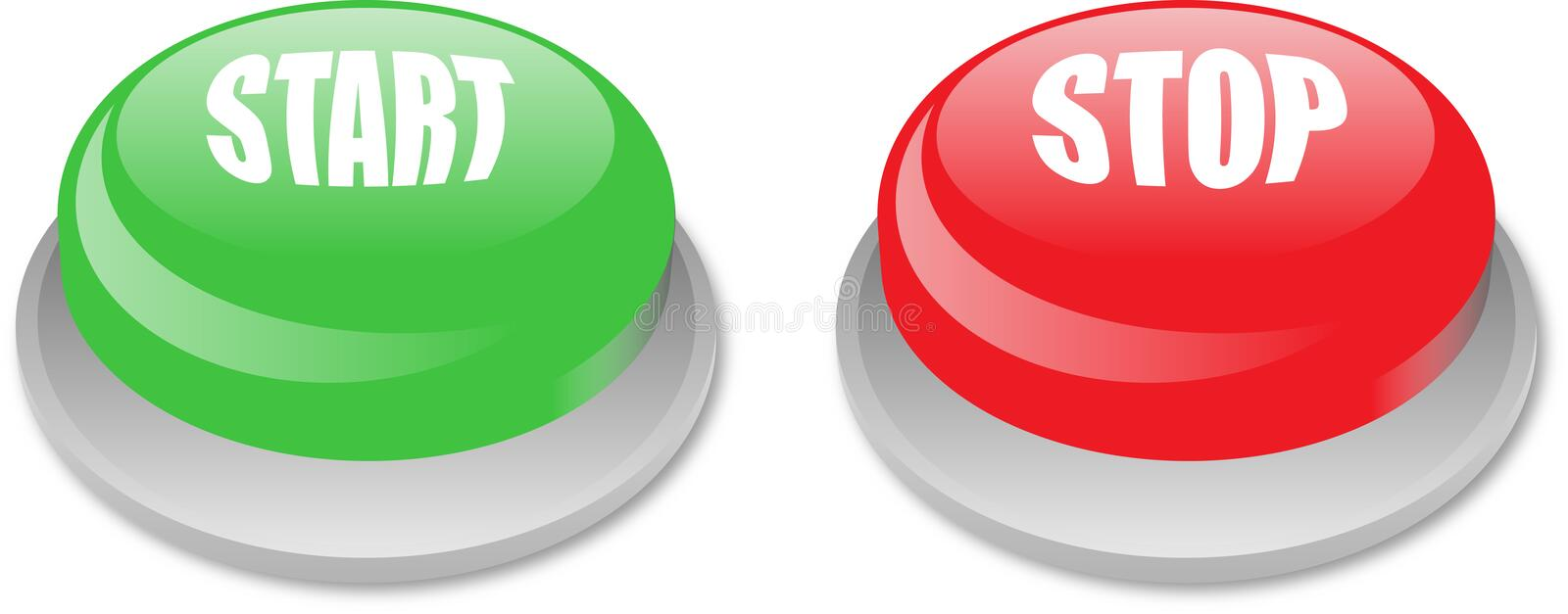 Download Start stop button stock vector. Image of shiny, green - 16939470