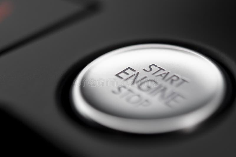 Start Stop Button in a modern car stock photos