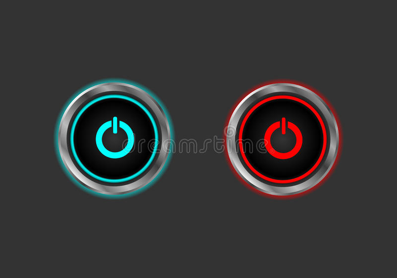 Download Start stop power button stock vector. Image of internet - 38866327