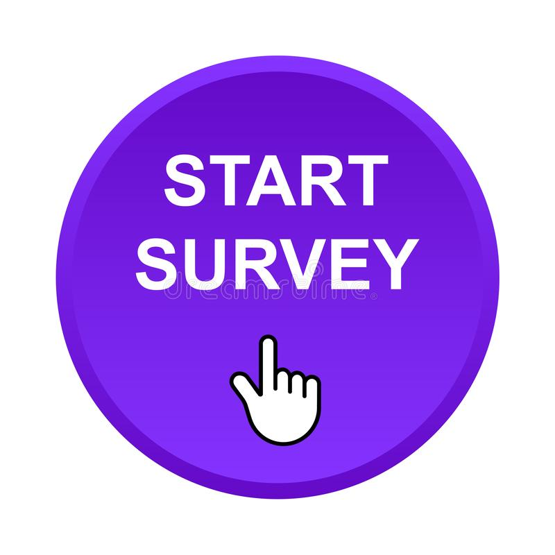 Start survey button royalty free illustration