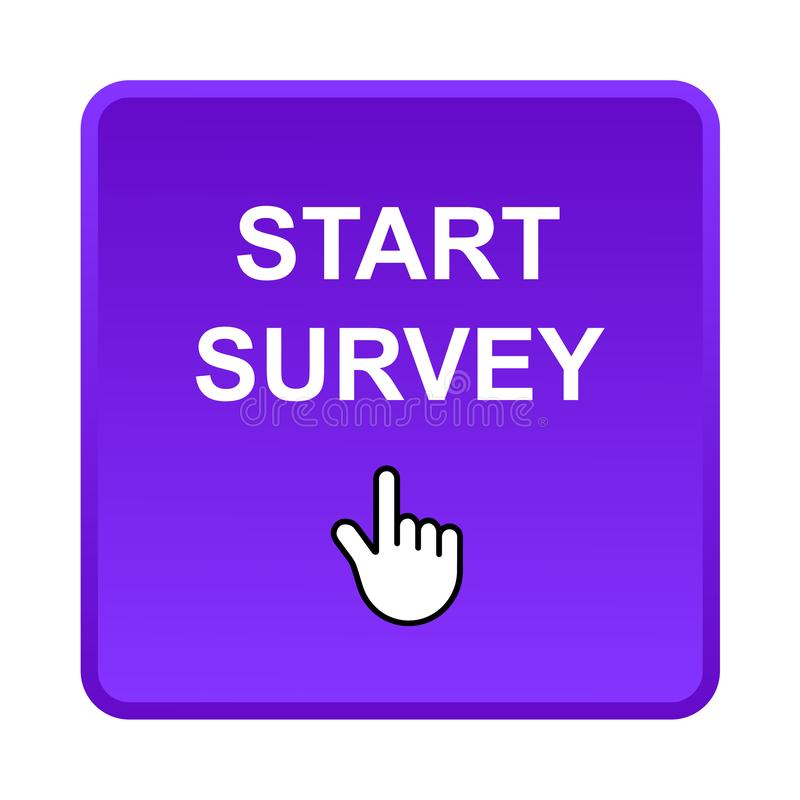Start survey button vector illustration