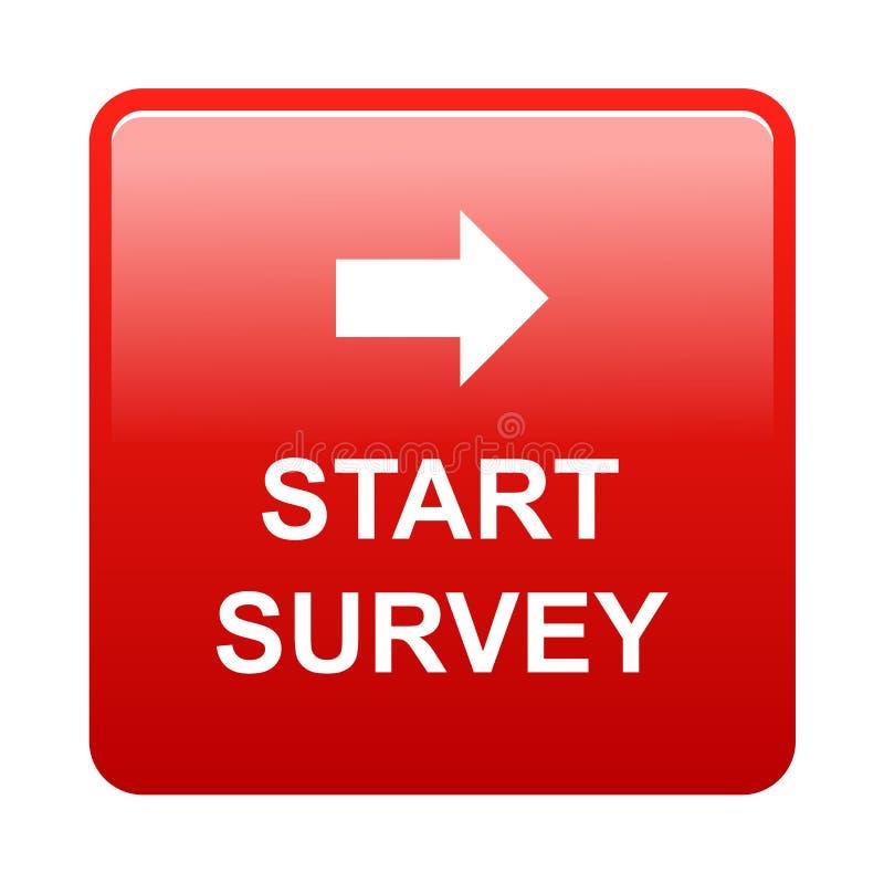 Start survey button vector illustration
