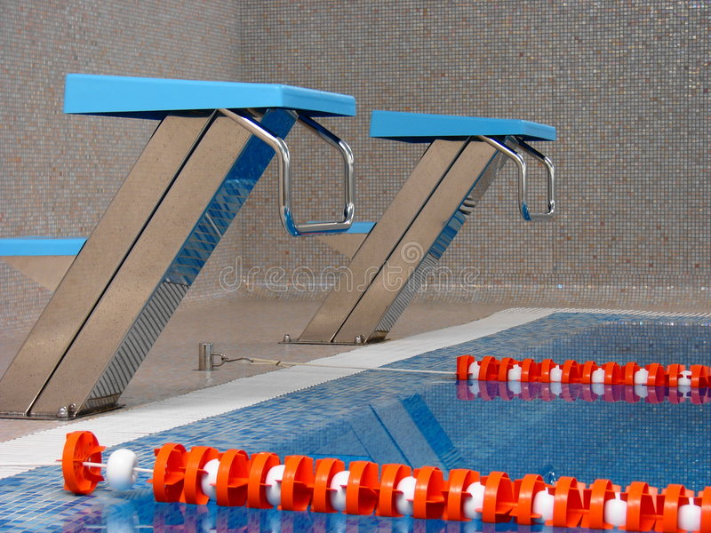 Start tables in. Swimming pool, fitness stock photography