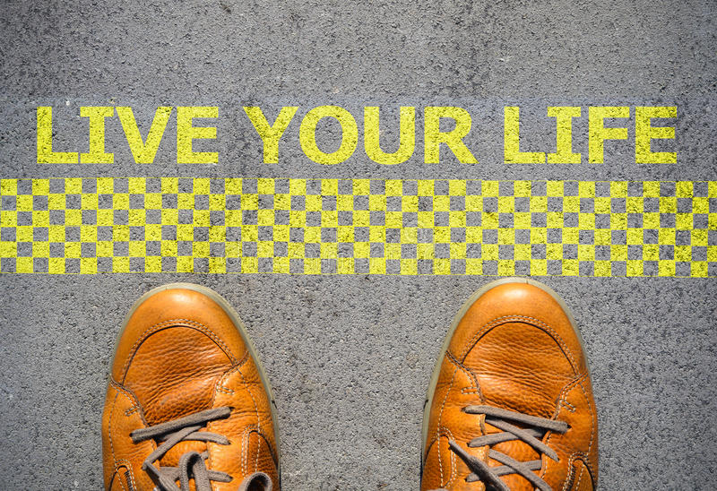 Start to live your life concept royalty free stock photo