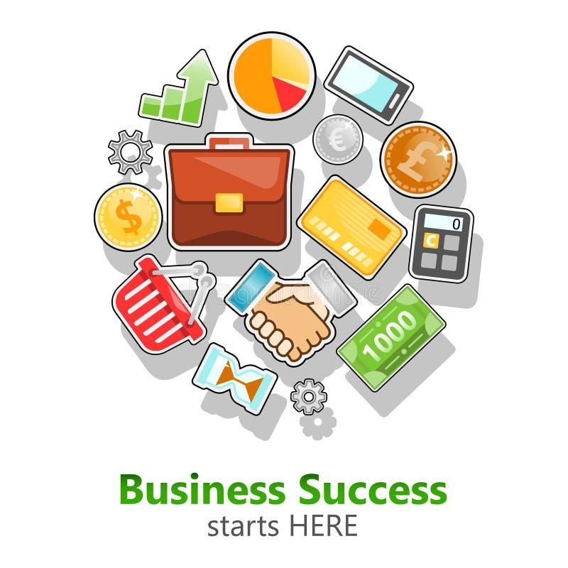 Start up, business, finance, banking, marketing vector image stock illustration