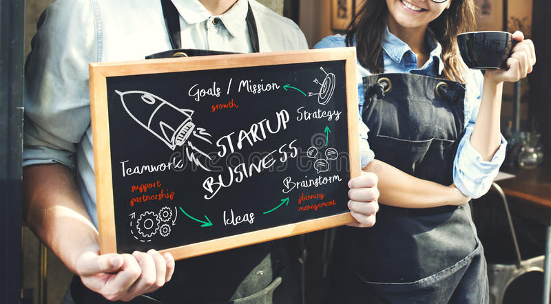 Start Up Business Rocket Ship Graphic Concept. Business Start Up Business Rocket Ship Graphic royalty free stock photography
