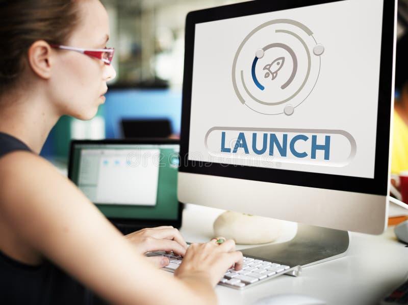 Start Up Business Rocket Ship Graphic Concept. Start Up Business Rocket Ship Graphic stock images