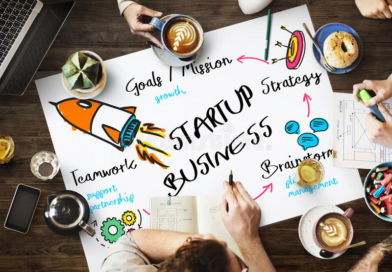 Start Up Business Rocket Ship Graphic Concept. Start Up Business Rocket Ship Graphic stock image