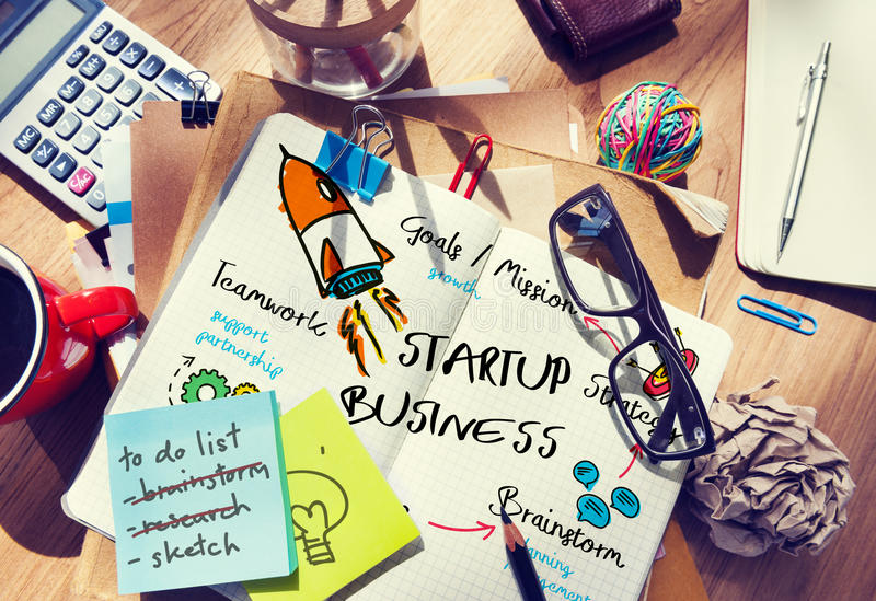 Start Up Business Rocket Ship Graphic Concept royalty free stock photo
