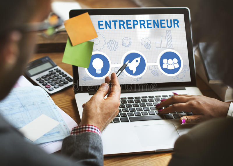 Start Up Business Rocket Ship Graphic Concept. Business People Start Up Business Rocket Ship Graphic stock image