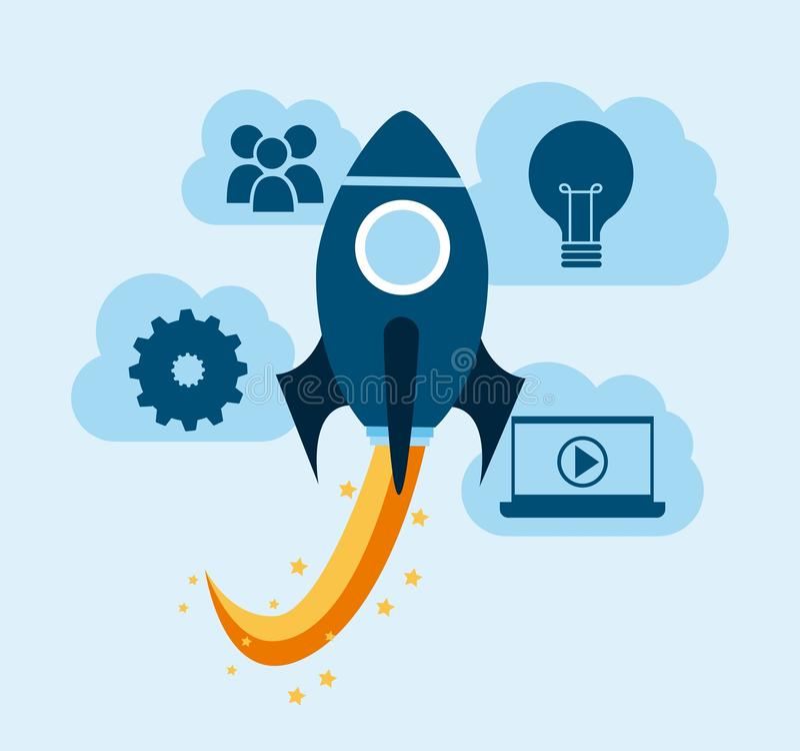 Start up design stock illustration