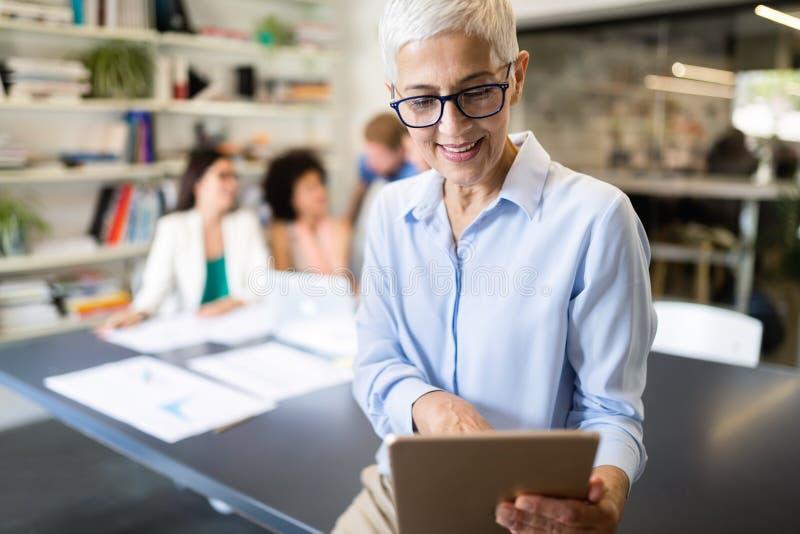 Start up of enterprise, women leader the new company self confident. Start up of enterprise, coworker women leader the new company stock photo