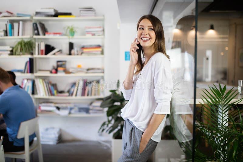 Start up of enterprise, women leader the new company self confident. Start up of enterprise, coworker women leader the new company royalty free stock image