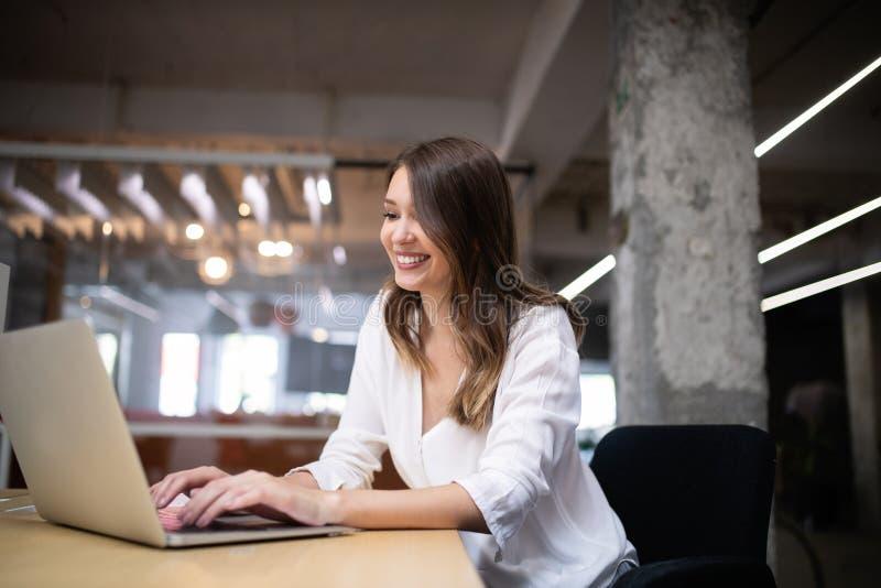 Start up of enterprise, women leader the new company self confident. Start up of enterprise, coworker woman leader the new company royalty free stock image