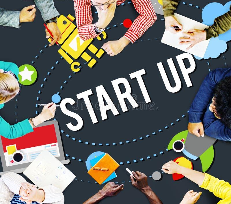 Start Up Goals Growth Success Plan Business Concept vector illustration