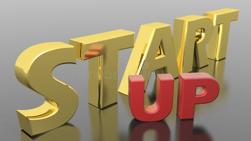 Download Start Up stock illustration. Image of golden, business - 32185088